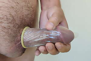super king condom on my cock