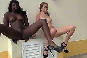 Black and white girls pissing