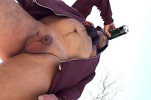 uncut soft penis in public