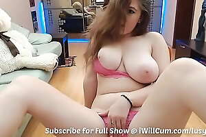 Chubby MILF With Huge Perfect Tits Cums So Hard