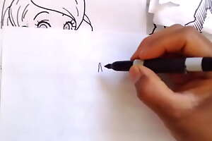 Como dibujar Hecchi Art Facil de la LINDA IMAWARI de nuestro suegro NARUTO XDEIOSPERVERSUS