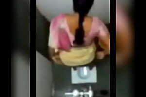 Desi aunty pissing in public toilet
