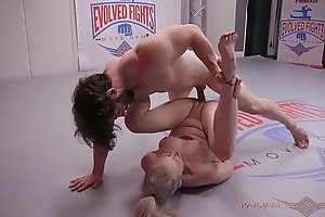 Babe Arielle Aquinax fucked after Mixed Nude Wrestling loss
