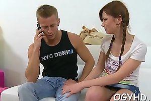 Old boy seduces a young babe