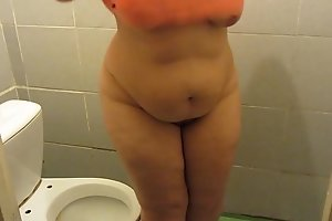 Golden shower in public toilets, bbw with hairy pussy pee into the toilet and on fat thighs. Fetish compilation.