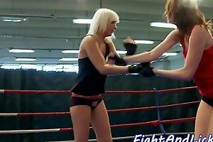Fighting beauties love fingering and queening