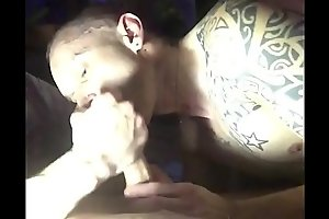 Sucking and swallowing cum