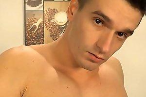 Casper Ivarsson slides onto Peter Uman's porn video  thick, uncut cock