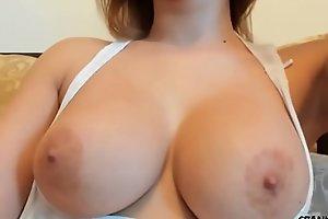 Close up boobs shot