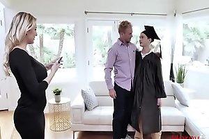 Mom rewards son for getting through college
