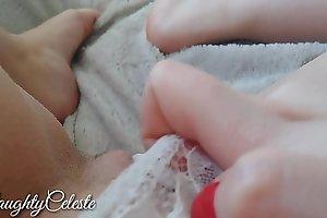 4K fingering my wet pussy till orgasm in white panty