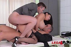 Big Titty Slut Tigerr Benson enjoys Deep Anal &amp_ DP Fuck session GP505
