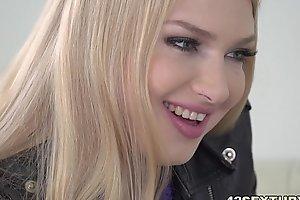Blonde beauty fucks in black stockings - Lucy Heart, Kai Taylor