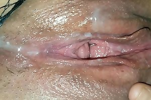 After fuck pussy play. Eat my cum from her cunt then make her squirt