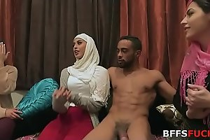 Muslim girls in HIJAB fuck one night before marriage!