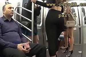 Groping her provide full of train