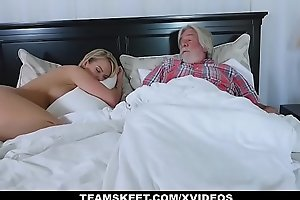 FamilyStrokes - Sexy Cheating wife Fucks Her Stepson