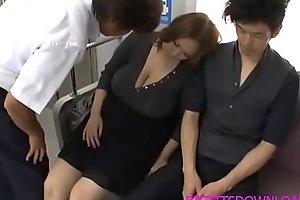 Beamy tits asian fucked on accustom
