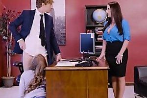 Big Tits at Work - Porn Logic scene starring Angela White, Lena Paul &_ Michael Vegas