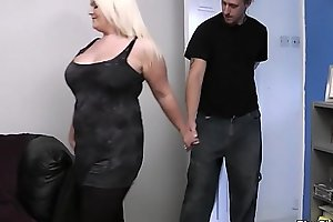 Mart bbw gives doper coupled with doggy-fucked