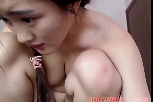 Big-busted Replete with Asian Pussy