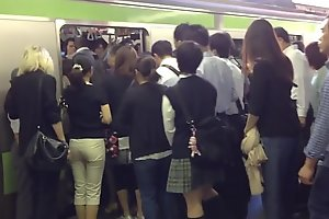 Humping Groping prevalent tokyo underground railway