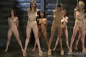 Bdsm hand-to-hand activity recoil fitting of selection slaves nigh black hole