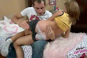 Horny schoolgirl anal fingering
