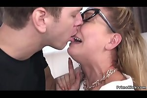 Busty Milf officer anal fucked in rope