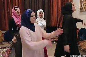 Summer party orgy xxx Hawt arab honeys try foursome