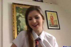 Inexpert schoolgirl pleasuring paterfamilias