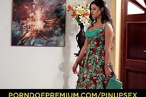 PINUP SEX - Lustful fucking everywhere gorgeous pinup Czech Billie Star with the addition of Leny Evil