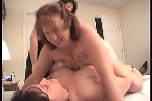 Two Lesbians Fuck Redhead Creation With A Strapon Sex-toy Til She Cums Multifaceted Times