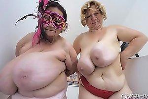 two older ladies swing massive tits