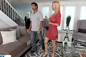 Huge boobs lonely housewife big Chief on her husband