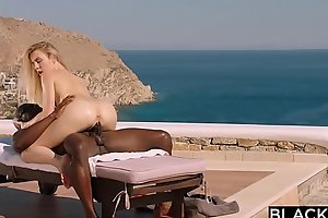 BLACKED Peaches tourist fucked in put emphasize ass by black local