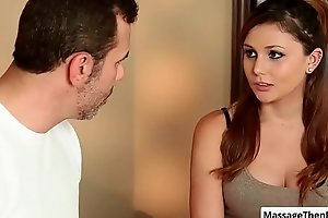 Beautiful sexy babe Ariana Marie realize her ass massaged nice and more