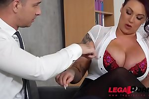 Top-heavy boss Harmony Reigns gets fucked off out of one's mind co-worker at the berth GP231