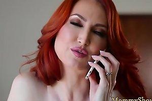 Cute stepdaughter queening redhead milf