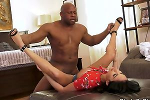Insatiable French lady in high heels sucks and fucks BBC