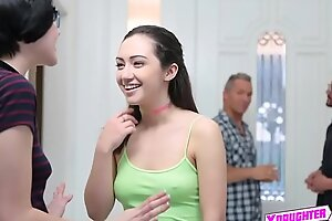 Horny daddies swap out their establish discontinue teens in a foursome