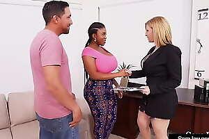 Perverted Sex Doctor Sara Jay Milks Dick With Phat Maserati!