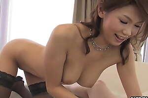 Japanese darling, Runa Sezaki sucks dick, uncensored