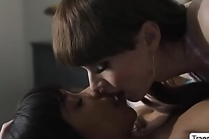 Jenna enjoys sucking Natalies shecock
