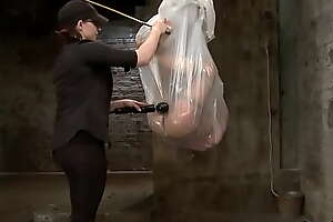 Suspended in plastic b. Asian caned