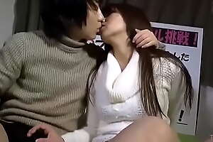 Japanese cuckold in forn husband creampie