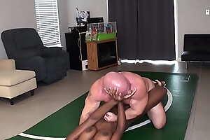 Paris vs Tony Nude Wrestling