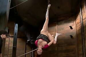 Lesbian hogtied and suspended