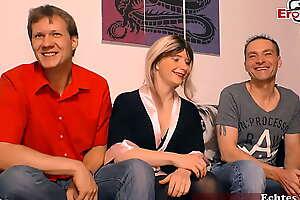 Deutsche Hausfrau macht ersten dreier beim casting mit 2 männern